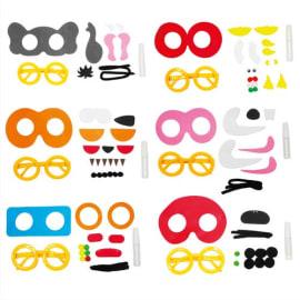 SODERTEX Kit de 24 Lunettes en mousse EVA lapin, éléphant, tigre, poisson, coccinelle, robot, 15/20x15cm photo du produit