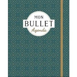 MON BULLET AGENDA. Coloris bleu. Couv cart, avec élastique+3 signets,240 pages avec pointillés,171x216mm photo du produit