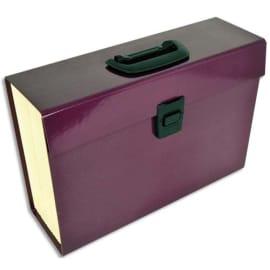 PIERRE HENRY Trieur PREMIUM 20 compartiments, en carton renforcé. Coloris aubergine photo du produit