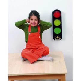 Feu de signalisation tricolore qui mesure le bruit et signal sonore quand seuil atteint. Dim 44x14x11 cm photo du produit