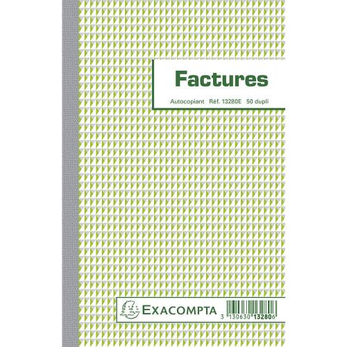 EXACOMPTA Manifold Factures 21x13,5cm - 50 feuillets dupli auocopiants photo du produit Principale L