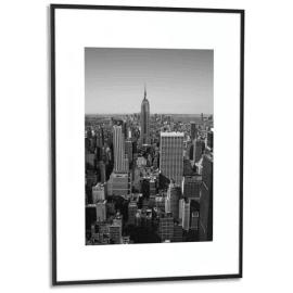 PAPERFLOW Cadre photo contour aluminium coloris Noir, plaque en plexiglas. Format 42 x 59 cm photo du produit