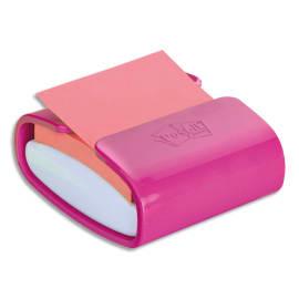 POST-IT Dévidoir z-notes Super Sticky Post-it® PRO Fuchsia + 1 bloc Vert néon 76x76 mm, 90 feuilles photo du produit