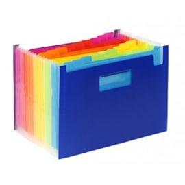VIQUEL Trieur Seatcase HAPPYFLUO 19 cpts, PP 7/10e, 2 poignées. Coloris Bleu, intérieur fluo multicolore photo du produit