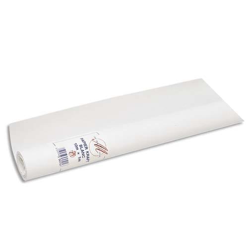 CLAIREFONTAINE Rouleau de papier Kraft Blanc 60g/m2 1x25m photo du produit Principale L