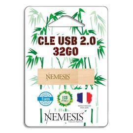 CAP DISTRIBUTION Clé USB 2.0 Nemesis en Bambou 32Go NEMCLE32BAMBOU photo du produit