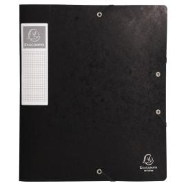 EXACOMPTA Boîte de classement dos 6 cm, en carte lustrée 7/10e coloris Noir photo du produit