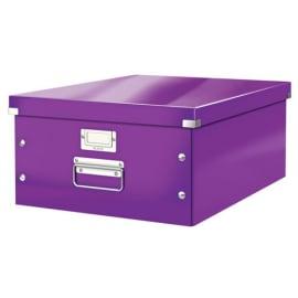 LEITZ Boîte CLICK&STORE L-Box. Format A3 - Dimensions : L36,9xH20xP48,2cm. Coloris Violet. photo du produit