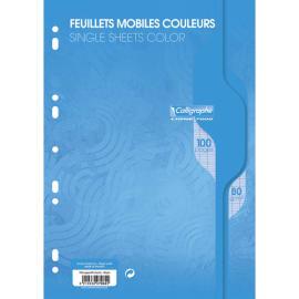 CALLIGRAPHE Copies simples Bleu perf 2 trous 80g 100 pages grands carreaux Séyès format A4. Film-CAL 7000 photo du produit