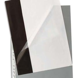 PERGAMY Boîte de 100 pochettes à ouverture en coin en polypropylène 9/100e, perforation 11 trous photo du produit
