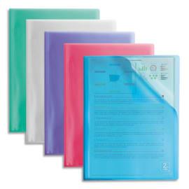 OXFORD Protège documents 2ND LIFE 40 vues, 20 pochettes. En polypropylène translucide. Coloris assortis photo du produit