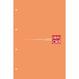 PLEIN CIEL Bloc agrafé côté 160 pages perforées 80g grands carreaux Séyès 21x31,8cm. Couverture Orange photo du produit