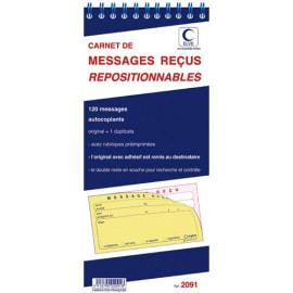 ELVE Carnet de 120 messages reçus autocopiant repositionnables photo du produit