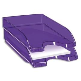 CEP Corbeille à courrier Happy ultra Violet transparent. Dimensions : L34,5 x H6,4 x P26 cm photo du produit