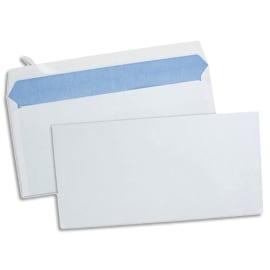 Boîte de 500 enveloppes Blanches 80g DL 110x220 mm auto-adhésives photo du produit
