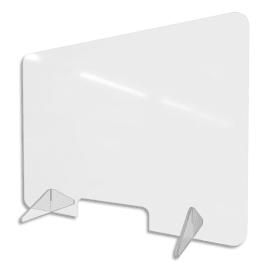 Vitre de protection en Plexiglass. Dimensions l95xh70cm. Epaisseur 3mm et pieds 8mm. photo du produit