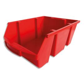VISO Bac de rangement à bec 28L Spacy avec porte étiquette en polypropylène Rouge L30,5 x H17,5 x P46 cm photo du produit