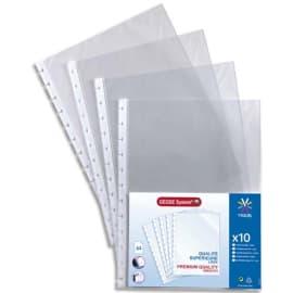 VIQUEL Sachet de 10 pochettes perforées à ouverture haut pour reliure Géode Méteor polypropylène 6,5/100e photo du produit