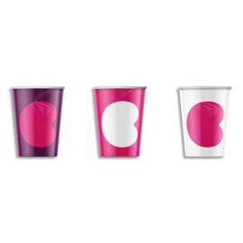 CALIPAGE Sachet de 100 gobelets 15 cl pour boissons chaudes en carton - Hauteur 8 cm Diamètre 7,01 cm photo du produit