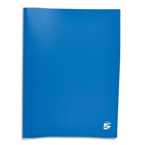 PERGAMY Protège-documents en polypropylène 40 vues Bleu, couverture 3/10e, pochettes 6/100e photo du produit Principale L