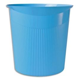 HAN Corbeille à papier Loop Bleu clair en polypropylène - Dimensions L29 x H28,6 x P22,7 cm photo du produit