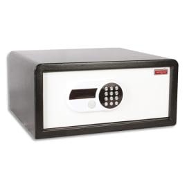 RESKAL Coffre de sécurité 26 litres Blanc, serrure électronique, pour hôtels - Dim : L47 x H24 x P42,5 cm photo du produit