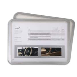 TARIFOLD Sachet de 2 Pochettes Magneto cadre arg A4 dos adhésif repositionnable L24,2 x H32,9 x P0,02 cm photo du produit