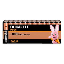 DURACELL Blister de 24 piles PLUS 100% AAA PAN 5000394146679 photo du produit