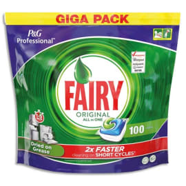 FAIRY Boîte de 100 dosettes tout en un pour lave-vaisselle tous cycles, sachet hydrosoluble photo du produit