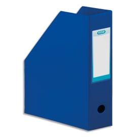 OXFORD Porte-revues en PVC soudé, dos de 10 cm 32x24cm, livré à plat. Coloris Bleu foncé photo du produit