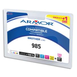 ARMOR Pack couleur 5 cartouches comp je LC985 B10173R1 photo du produit