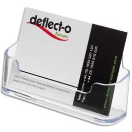 DEFLECTO Porte cartes visite standard transparent 9.5x4.8x3.8cm photo du produit