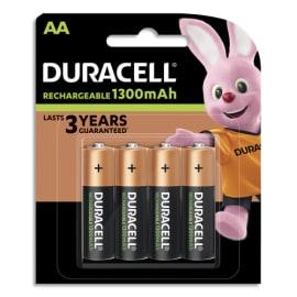 DURACELL Blister de 4 accus rechargeables 1,2V AA HR6 1300mAh 5000394039247 photo du produit