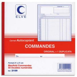 ELVE Manifold autocopiant commande format 21x21cm, 50 feuillets dupli photo du produit