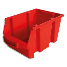 VISO Bac de rangement à bec 4L Spacy avec porte étiquette en polypropylène Rouge L14 x H12,5 x P23 cm photo du produit
