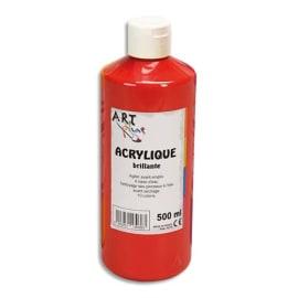 ART PLUS Acrylique brillante 500ml Rouge vif photo du produit
