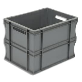 VISO Bac de rangement Gris en polypropylène, gerbable, charge 20 kg - Dimensions : L40 x l30 x H29 cm photo du produit