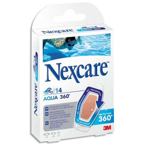NEXCARE Boîte de 14 pansements en polyuréthane Aqua, 3 tailles photo du produit Principale L
