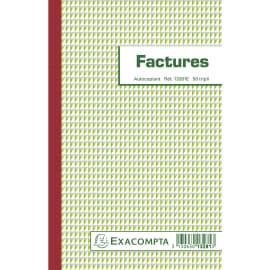 EXACOMPTA Manifold Factures 21x13,5cm - 50 feuillets tripli autocopiants photo du produit