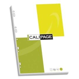 CALIPAGE Etui carton de 100 pages feuillets mobiles A4 grands carreaux 90g perforées photo du produit
