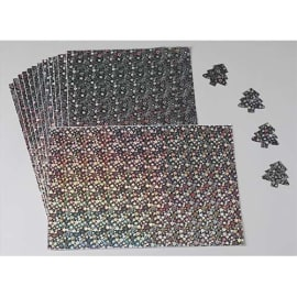 O COLOR Lot de 15 feuilles A4 holographiques adhésives. Motif étoiles argent, refletsde l'arc en ciel photo du produit