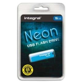 INTEGRAL Clé USB 2.0 NEON 16GB BleuE INFD16GBNEONB photo du produit