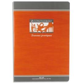 CONQUERANT 7 Cahier TP 32 pages grands carreaux Séyès+32 pages unies 17x22. Papier 70g. Couverture carte photo du produit