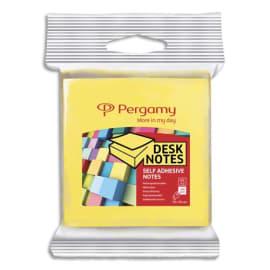 PERGAMY Blister de 2 blocs de 100 feuilles repositionnables dimensions 7,6 x 7,6cm. Coloris assortis photo du produit