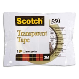 SCOTCH Ruban adhésif transparent 12mm x 66m en sachet individuel 550 photo du produit