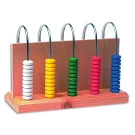Abaque à 5 colonnes 10 pièces chacune couleur assortie pour compréhension des nombres photo du produit