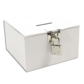 MAILDOR Boîte à trésors en carton Blanc à décorer, 105x105x60mm photo du produit