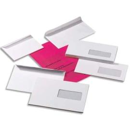 PLEIN CIEL Boîte de 500 enveloppes Blanches 80g DL 110x220 mm fenêtre 35x100 mm auto-adhésives photo du produit