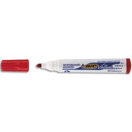 BIC Marqueur effaçable à sec pour tableaux Blancs pointe ogive encre à base d'alcool Rouge VELLEDA 1701 photo du produit