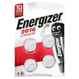 ENERGIZER Blister de 4 piles 2016 Lithium 7638900415353 photo du produit